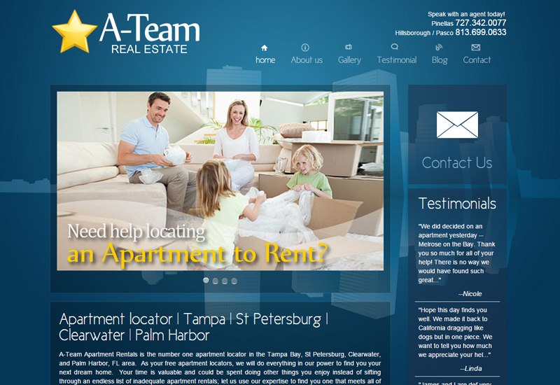 A-Team Apartment Rentals Screenshot