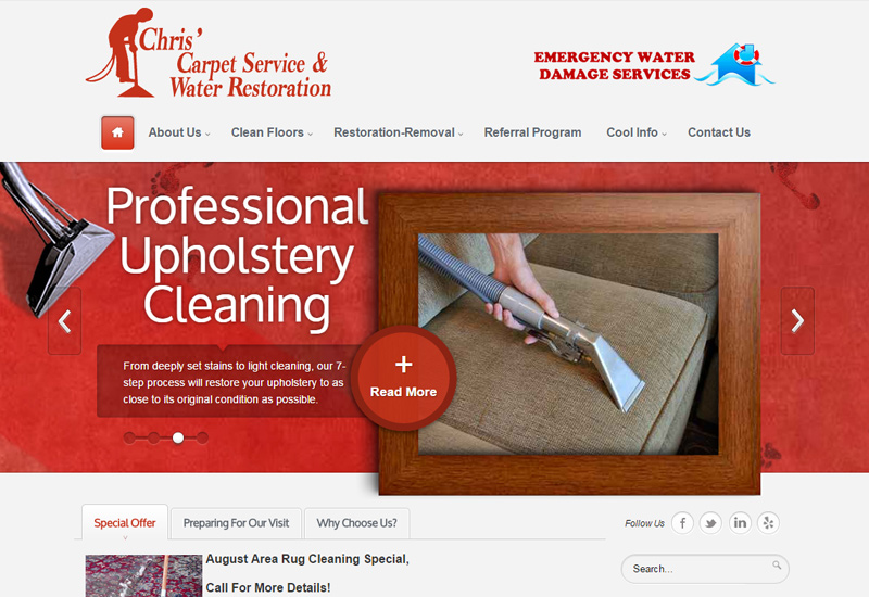 Chris' Carpet Service Screenshot