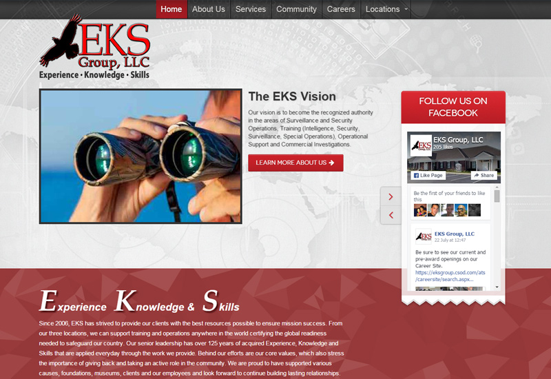 EKS Group Screenshot
