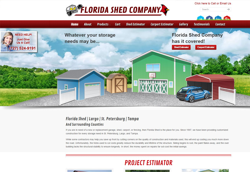 Florida Shed Company Screenshot