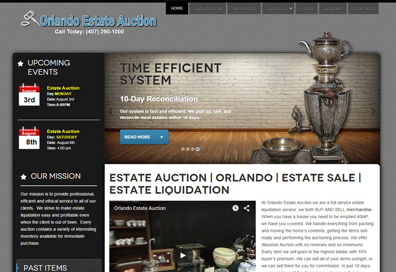 Orlando Estate Auction Screenshot