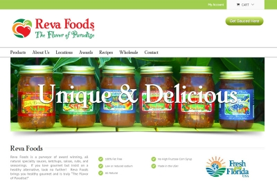 Reva Foods WordPress Web Design